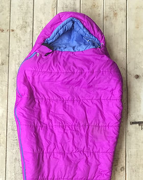sleeping bag camping used