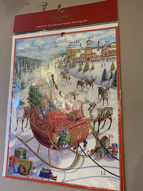 Santa's Sleigh Advent Calender