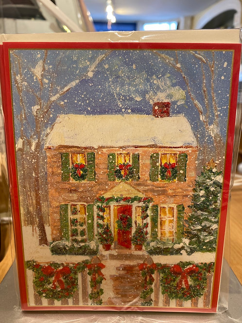 Warmest wishes Christmas cards, 5 pack