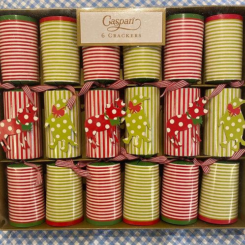 Caspari Northern Lights Crackers 6 pack