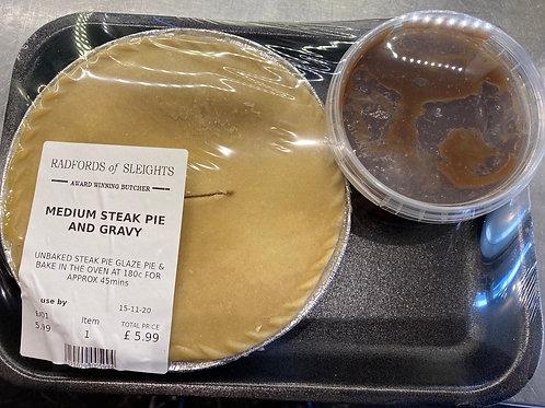 Medium Steak Pie with gravy