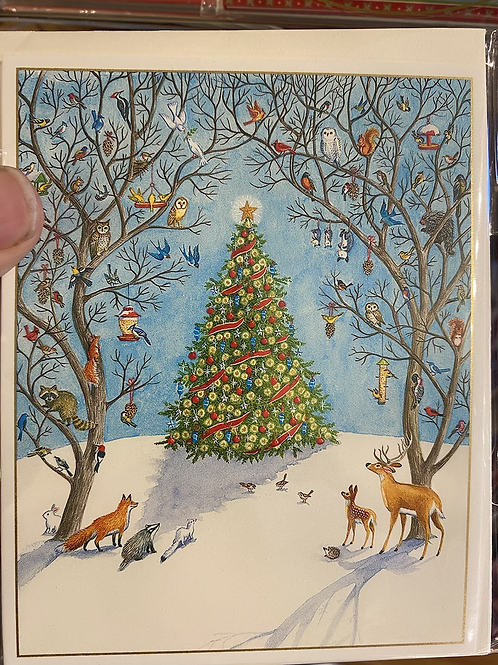 Outside Christmas Tree, small size. Pack of 5