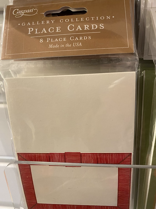 Red ribbon place cards