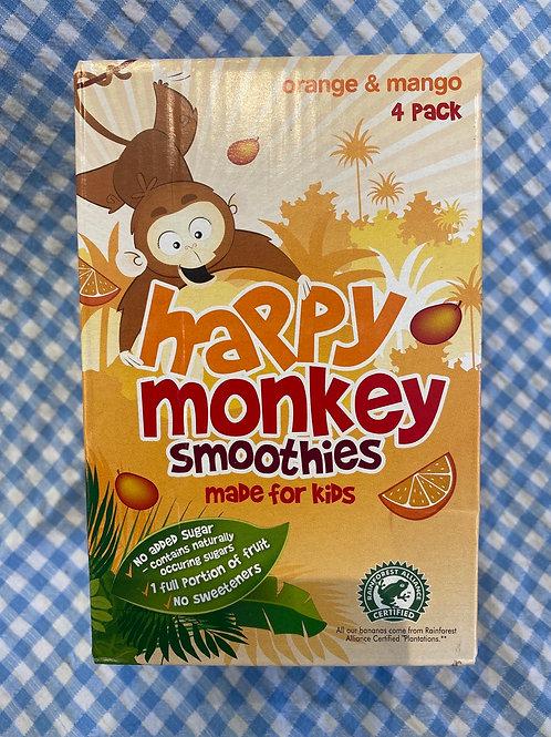 Happy Monkey Orange and Mango Smoothies 4 pack