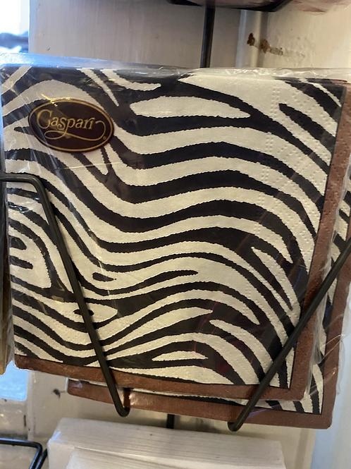 Zebra style Napkins - cocktail size