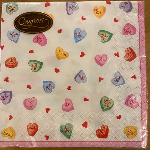 Luncheon Napkins - Love Hearts