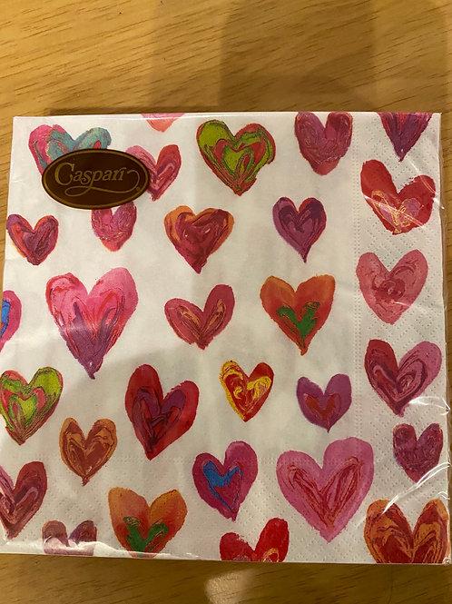 Luncheon Napkins - Love Hearts