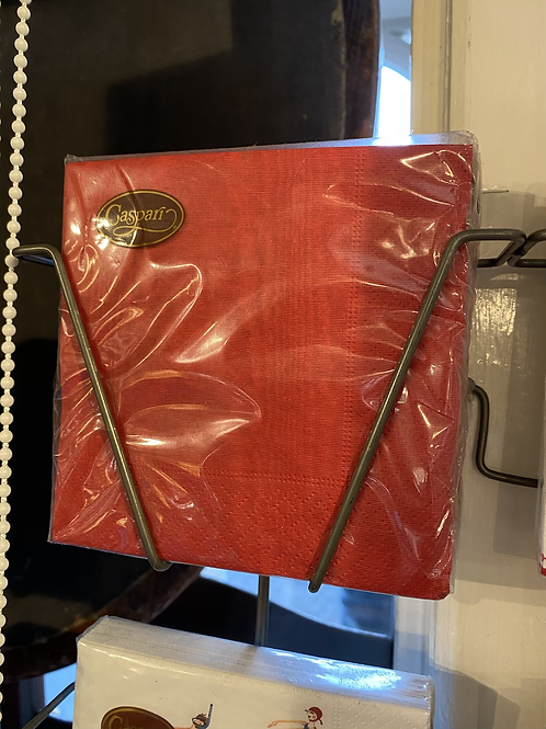 Red napkins - Cocktail size