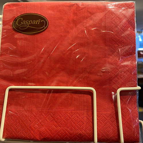 Red napkins, luncheon size
