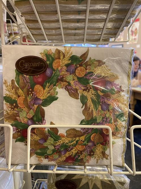 Autumnal Wreath napkins, luncheon size