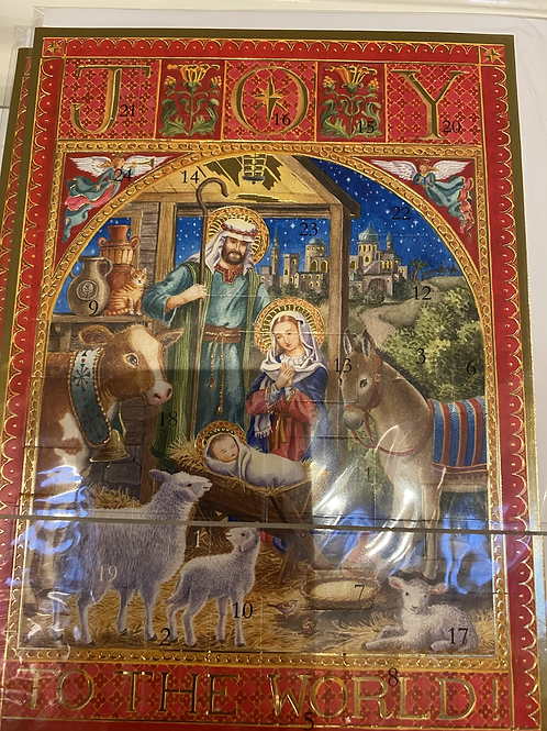 A5 size traditional advent calendar