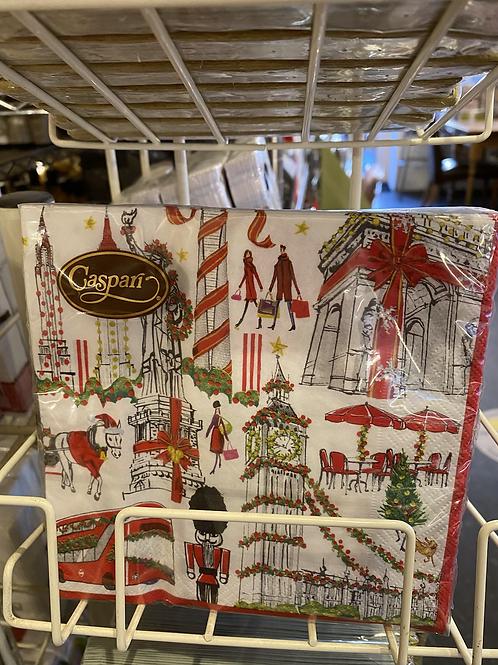 Cosmopolitan Christmas napkin, luncheon size