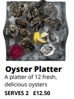 12 Oysters