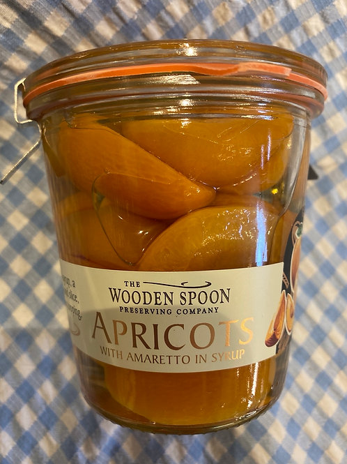 Wooden Spoon Co. Apricots with Amaretto in Syrup