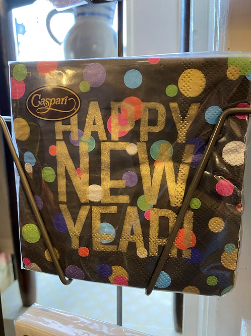 Happy New Year Napkins - cocktail size