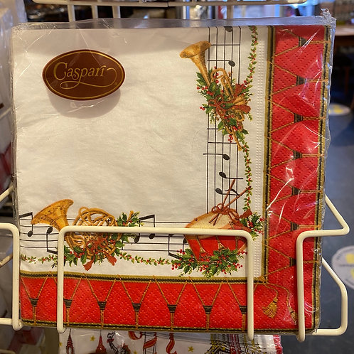 Musical Christmas Napkins, luncheon size