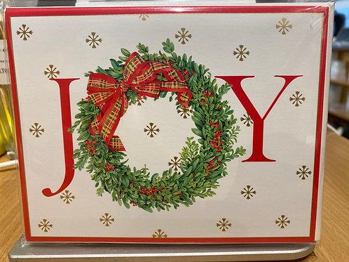 Joy Christmas Cards, 5 pack