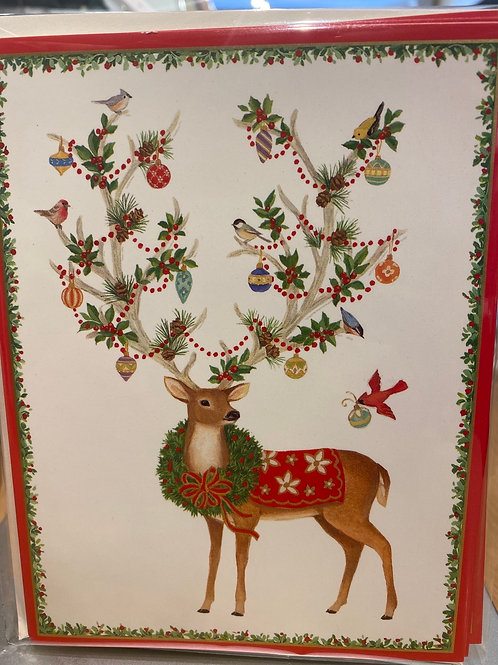 Deer Christmas cards, 5 pack