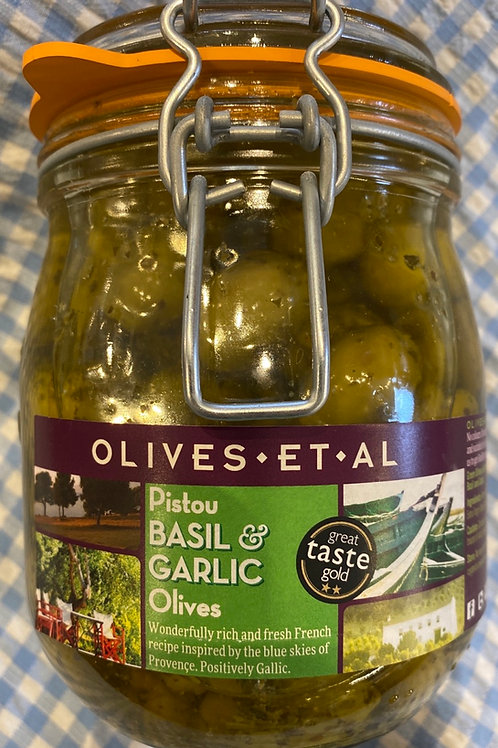 Olives Et Al Basil and Garlic Olives 800g