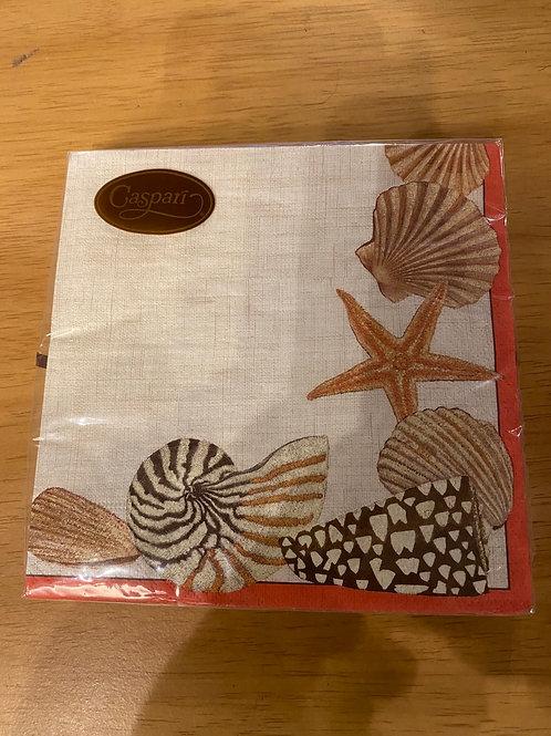 Luncheon Napkins - seashells