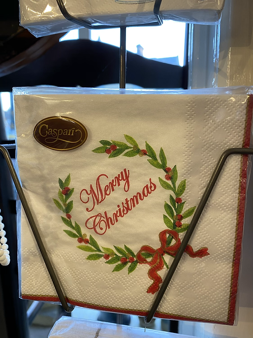 Merry Christmas Napkins - Cocktail size