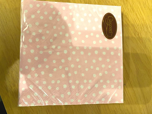 Luncheon Napkins - Pink Spotty