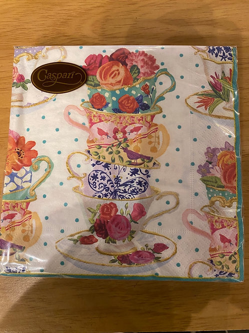 Luncheon Napkins - Stacked Tea Cups