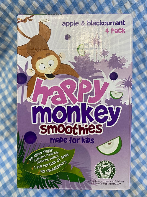Happy Monkey Smoothies Apple and Blackcurrant 4 pack