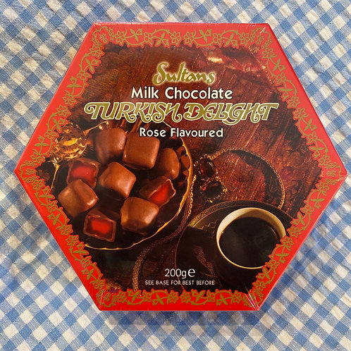 Sultans Rose flavoured Milk Chocolate Turkish Delight