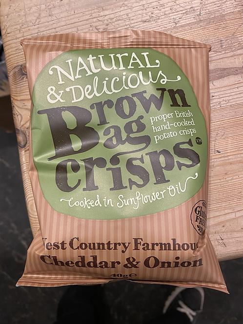 Cheese & Onion Crisps, 40g