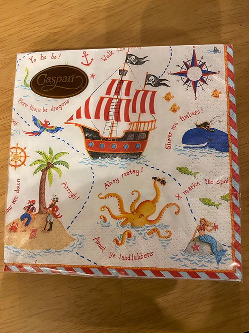 Luncheon Napkins - Pirates