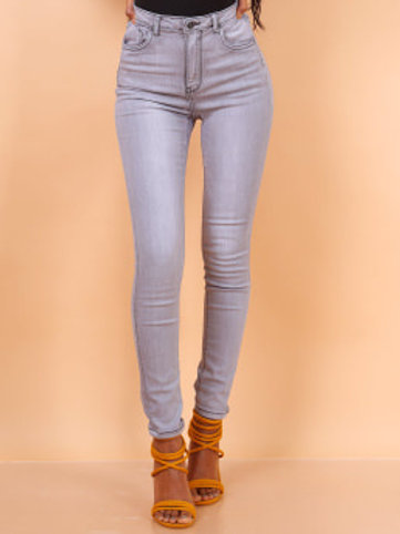 TOXIK high waist light grey