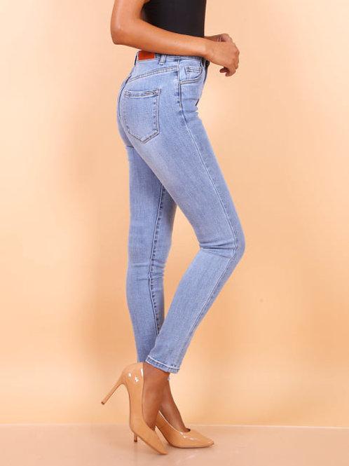 TOXIK high waist mid blue