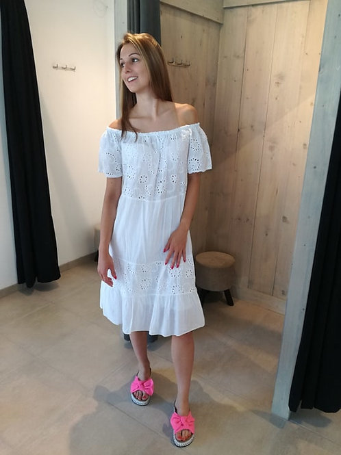 Witte jurk crochet