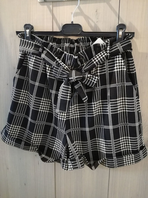 Short zwart/wit geruit