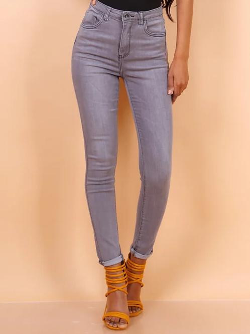 TOXIK high waist mid grey