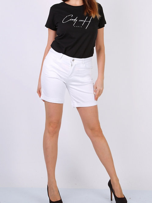 Short CINDY H wit (grote maten)