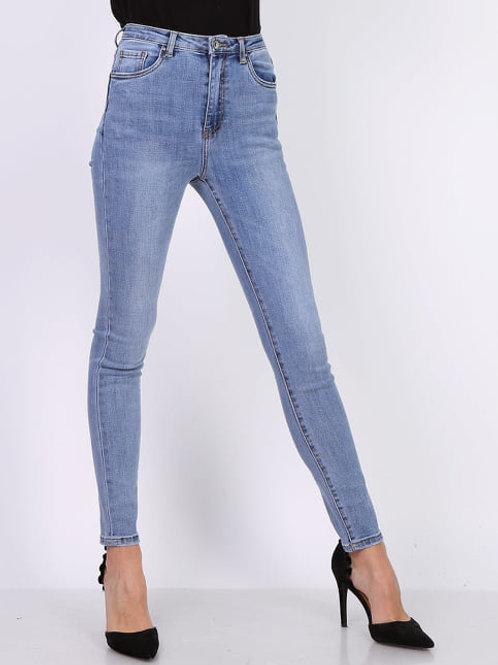 TOXIK high waist jeans mid blue