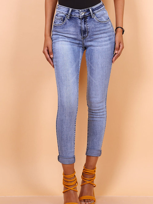TOXIK regular waist washed jeans
