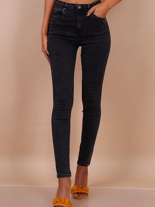 TOXIK high waist dark grey