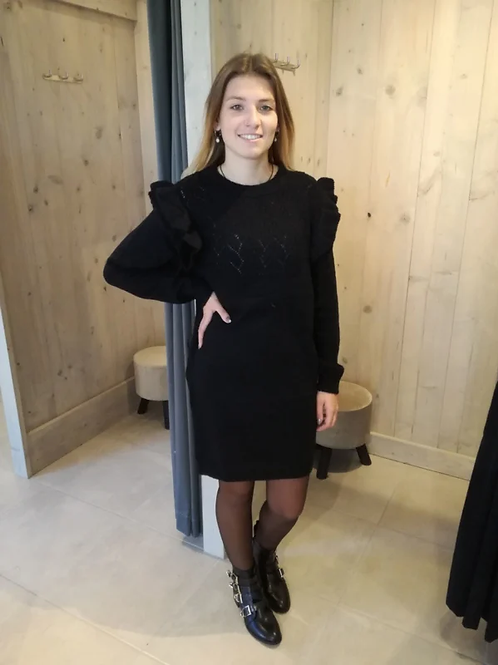 Trui-jurk met frul