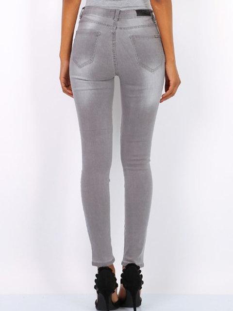 Mid waist jeans grey TOXIK