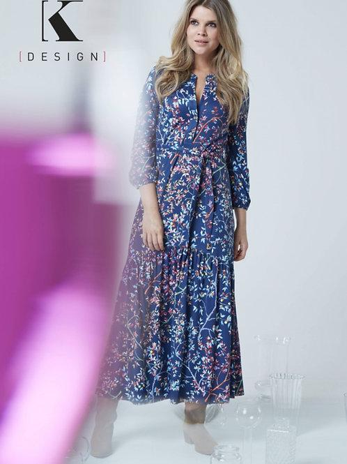 Maxi jurk K DESIGN met print