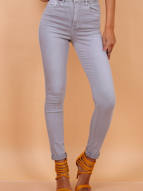Toxik high waist basic light grey