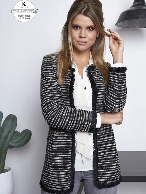 K Design midi jas tweed look