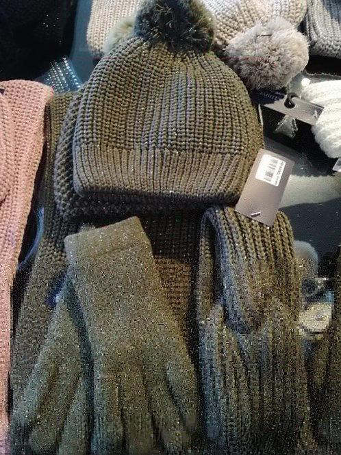 Kaki glitter handschoenen