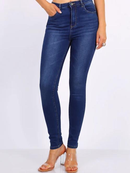 TOXIK high waist dark jeans