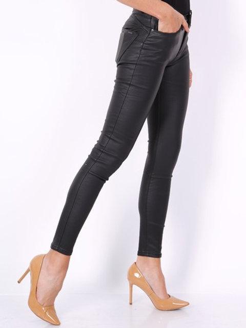 TOXIK shiny black higt waist