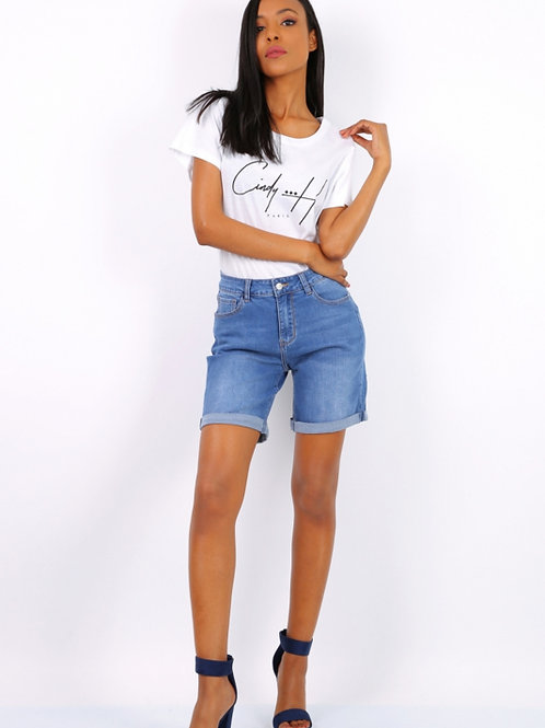 Short CINDY H mid jeans (grote maten)