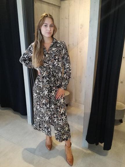 Midi jurk K DESIGN met kwastjes